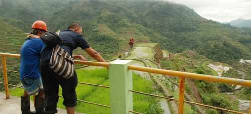 Asking details of the Rice Terraces