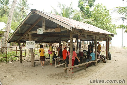 Waiting area for the public boat to Divinubo Island Eco Tour Park, Borongan, Eastern Samar