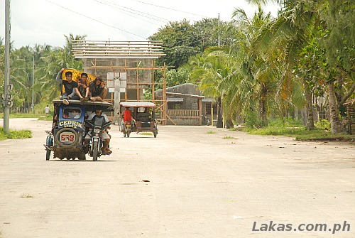 50 meter wide highway in the small town in Guiuan, Eastern Samar