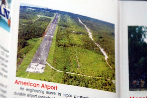 Picture of the American Airport at the Guiuan Brochure