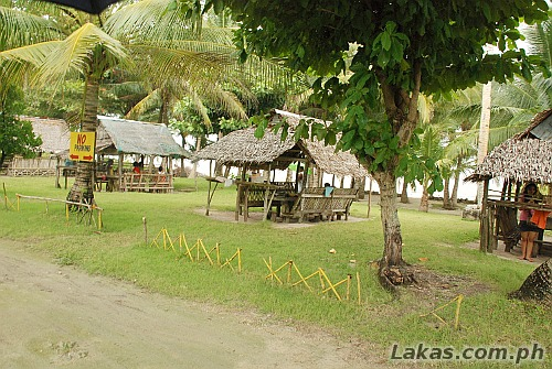 Cottages at Dumpao Beach Resort in Guiuan, Eastern Samar