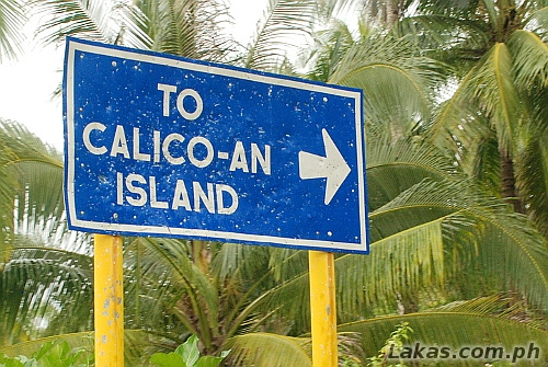 Signage to Calicoan Island