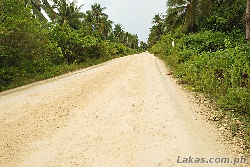 Road at Calicoan Island