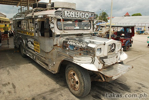 Jeep headed to Borongan at Guiuan Transport Terminal, Guiuan, Eastern Samar