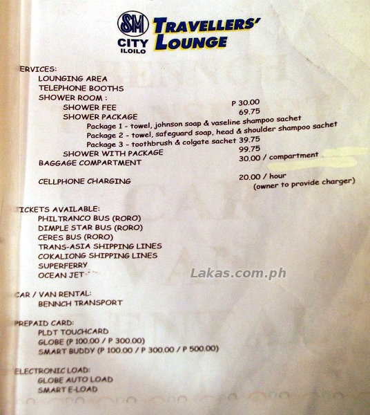 Services and Price List