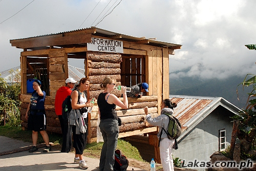 Tourist Information Center at the Start of the Trek