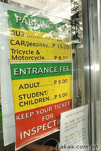 Parking and Entrance Fees