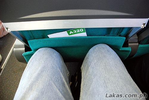 Knees hitting the seats at the front during my flight from Tacloban City, Leyte to Manila (ZestAir)