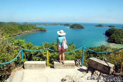 View from Governor's Island in Hundred Islands National Park in Alaminos, Pangasinan