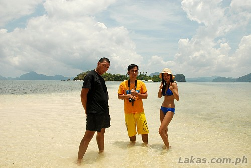 Me, Marky and Pam at the sandbar of Snake Island