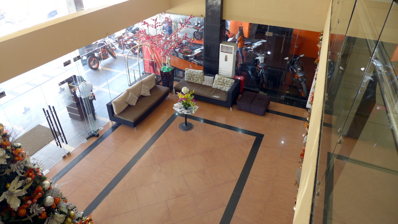 Hotel Lobby seen from the second floor.