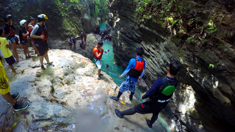 Canyoneering at Badian, Cebu, Philippines