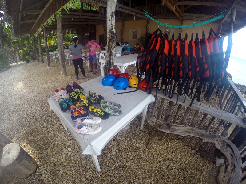 Shoe rental, helmets and lifevests