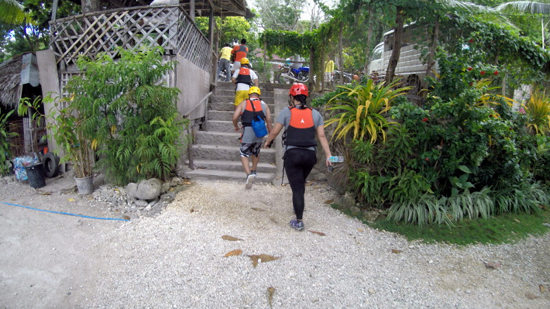 Going out of Matutinao Beach Resort for the habal-habal ride.