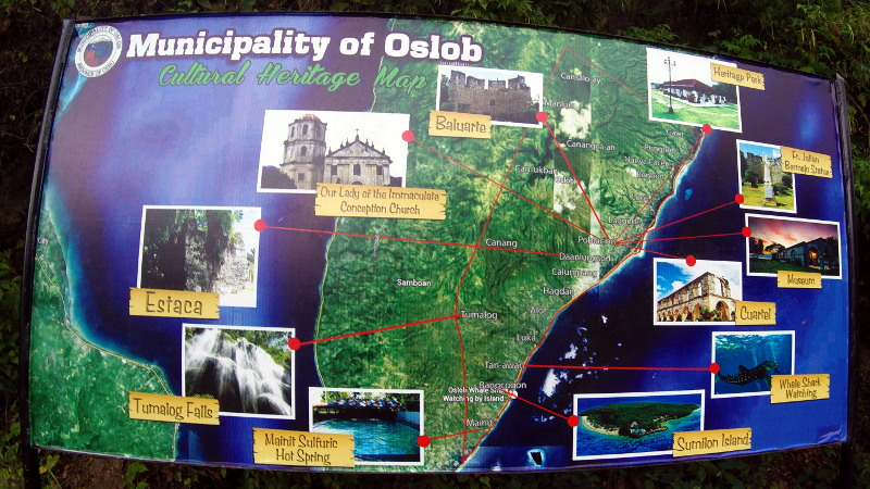 Tourist Map of Oslob