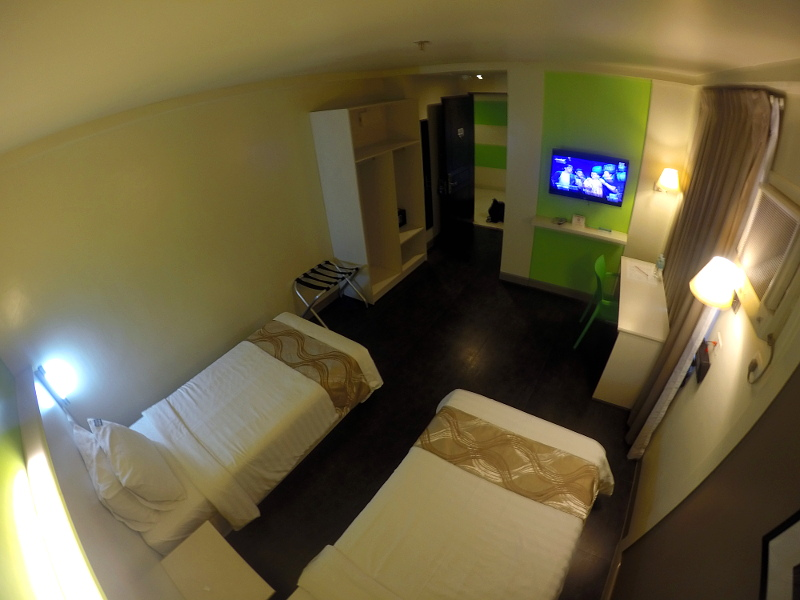 Inside the room at Pillows Hotel in Cebu City, Philippines