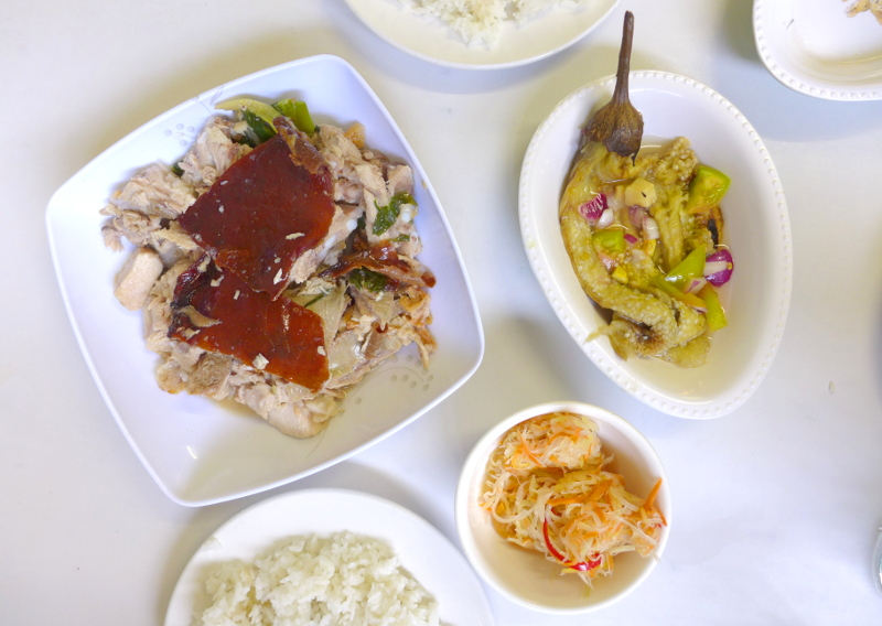 Carcar Lechon, Atsara, Enseladang Talong and Rice