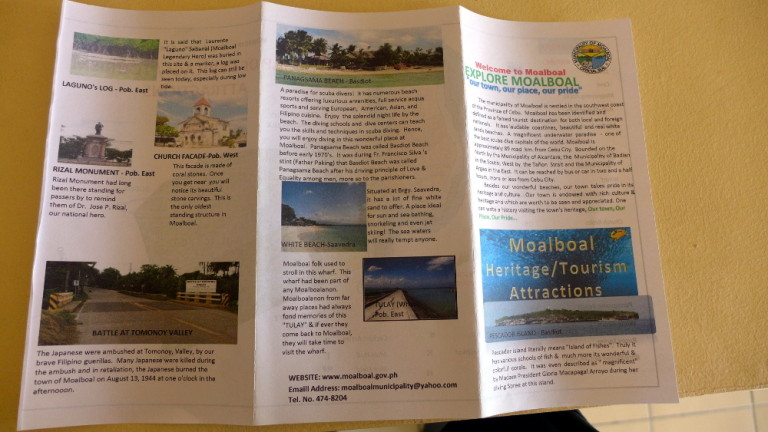 More information on the Tourism Flyer of Moalboal