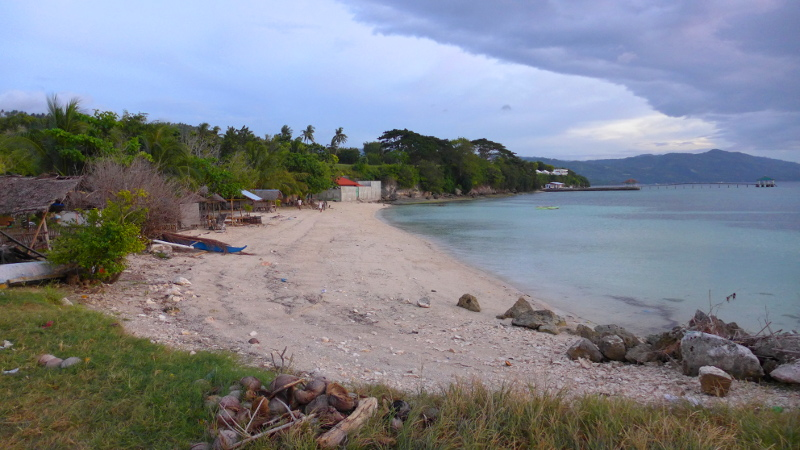 The other side of the port of Lambug Beach