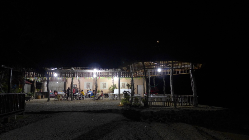Night time at Matutinao Beach Resort in Badian, Cebu, Philippines