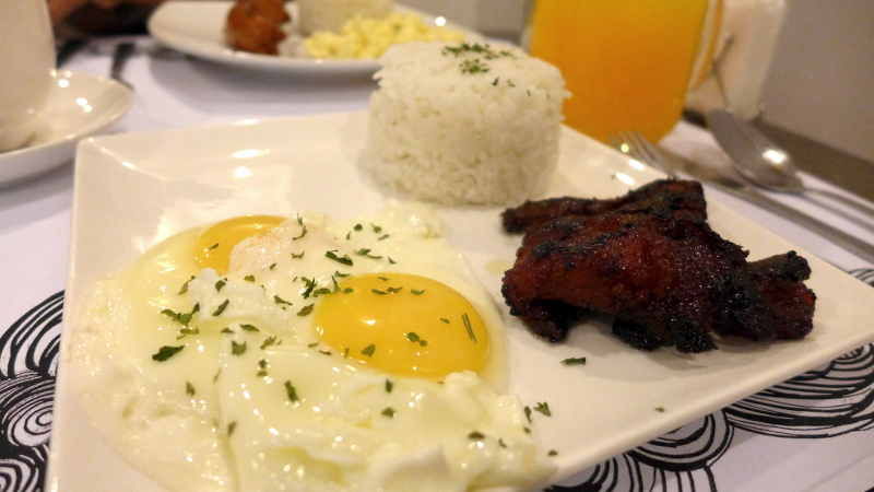 Breakfast at Pillows Hotel in Cebu City, Philippines