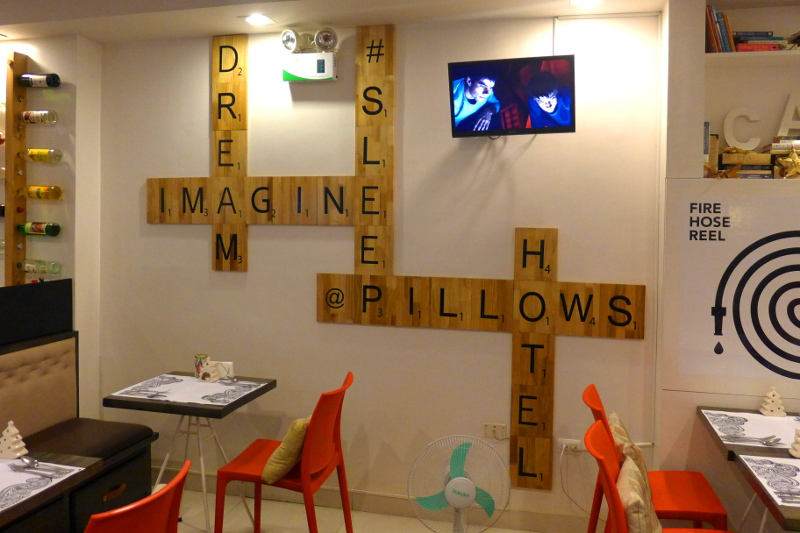 Scrabble Art in Pillows Hotel in Cebu City, Philippines