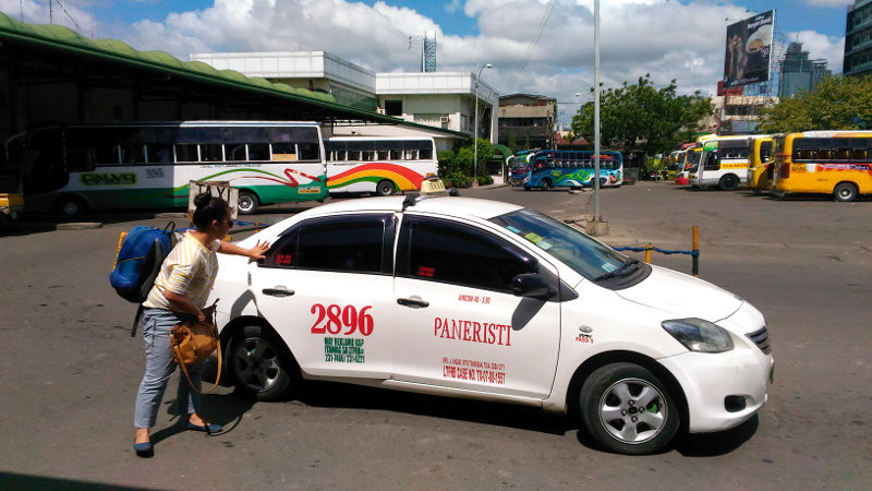 Our Taxi at South Bus Terminal of Cebu City