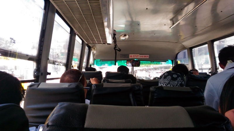 Inside the bus