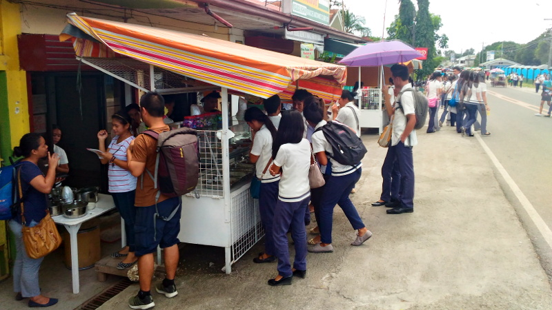 Canteen at the town proper of Moalboal, Cebu, Philippines