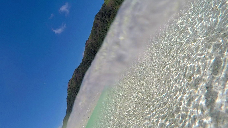 When my GoPro fell on the water.