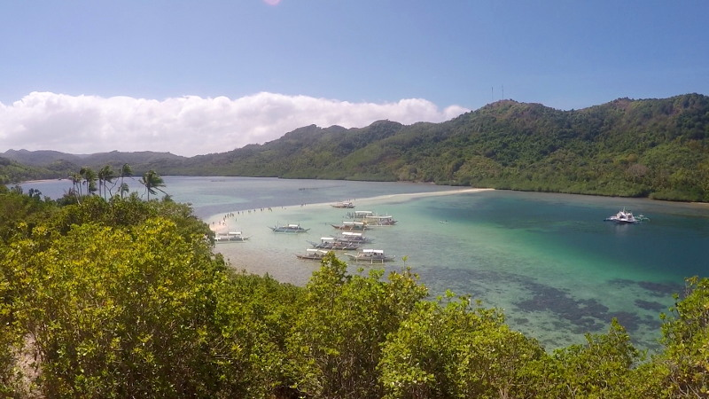 Snake Island in Island Hopping Tour B in El Nido, Palawan, Philippines
