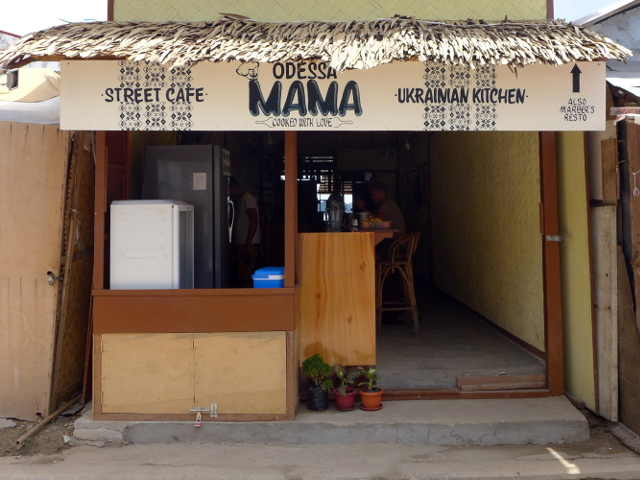 Odessa Mama Street Cafe, Ukrainian Kitchen in El Nido, Palawan, Philippines