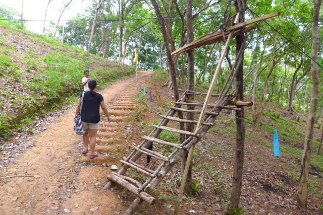 Uphill hike to El Nido Zipline in Maremegmeg Beach, Palawan, Philippines