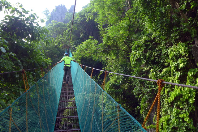 Hanging Bridge at Canopy Walk in El Nido, Palawan, Philippines