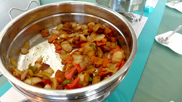 My personal favorite in the Buffet - Potatoes with Bell Pepper, Onions & Garlic