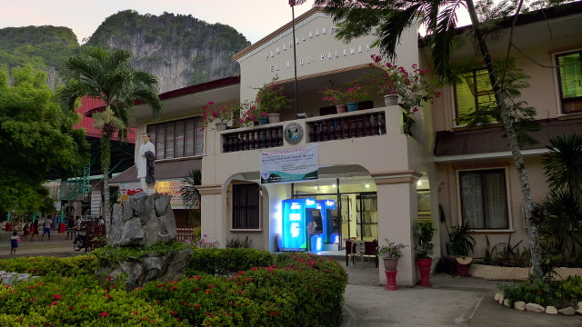 The glowing ATM of El Nido Municipal Hall - Sea Cocoon Hotel in El Nido, Palawan, Philippines
