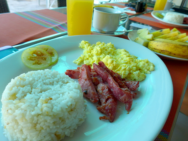 Plated Breakfast at Sea Cocoon Hotel in El Nido, Palawan, Philippines