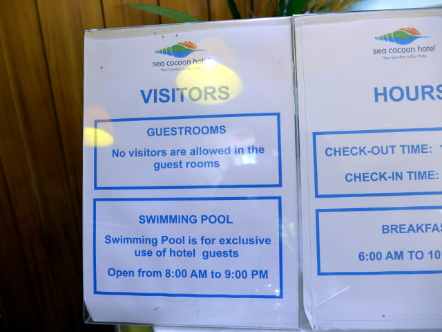 Swimming pool schedule