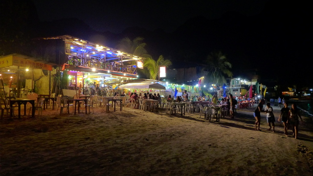 A restaurant along the beach walking distance from Sea Cocoon Hotel