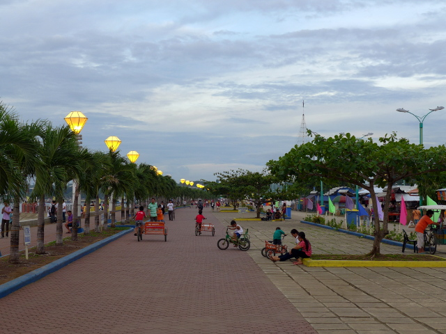 Baywalk, Immaculate Concepcion Cathedral and Plaza Cuartel in Puerto Princesa, Palawan, Philippines