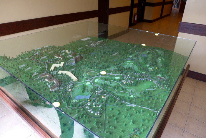 Miniature model of Camp John Hay in The Forest Lodge, Baguio City