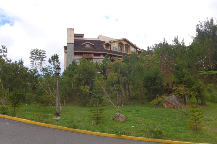 Photo of front of the Forest Lodge from the road going up to the hotel, Camp John Hay, Baguio City