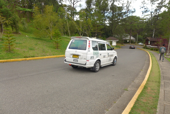 Taxi from the Forest Lodge, Camp John Hay, Baguio City
