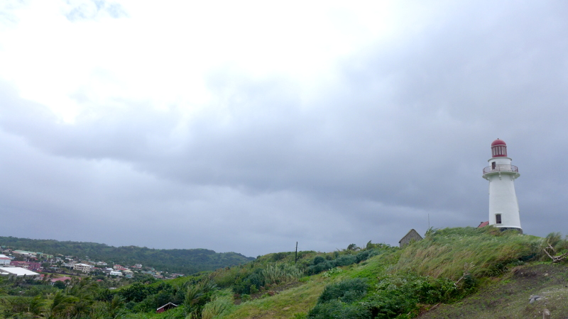 Basco Lighthouse and Naidi Hill in Basco, Batan Island, Batanes